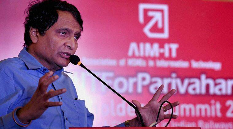 Suresh Prabhu, railway minister Suresh Prabhu, upgraded railway facilities, facilities for passengers, infrastructure facilities, Kanjurmarg railway station, foot over bridge, escalator, india news