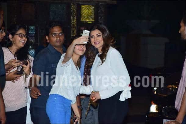 Preity Zinta, Preity Zinta reception, Preity Zinta wedding reception, Sushmita Sen