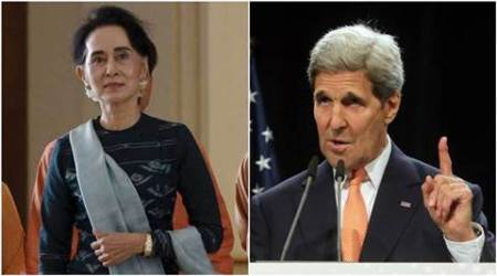 Myanmar's Aung Suu Kyi, Kerry walk tightrope over Rohingya question