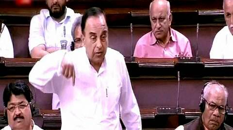 Subramanian Swamy, Rajya Sabha, AgustaWestland, Congress, Subramanian Swamy Rajya Sabha, Subramanian Swamy congress, Subramanian Swamy congress attack, parliament news, india news