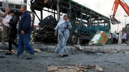 Islamic states blasts kill almost 150 inSyrian government-heldcities
