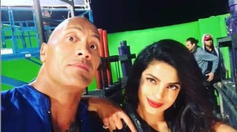 Dwayne Johnson lauds Baywatch co-star Priyanka  Chopra for handling pressure, action