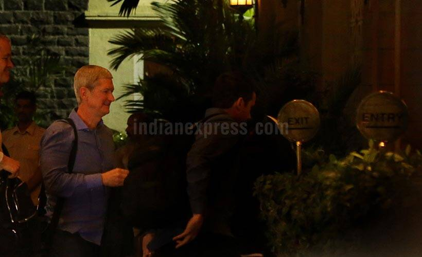Apple, Tim Cook, Apple CEO Tim Cook, Tim Cook India visit, Tim Cook India visit, Tim Cook in India, Tim Cook visit, Tim Cook Mumbai, Tim Cook India exclusive pictures, Tim Cook india hyderabad, India development centre, India new iphone, technology, technology news