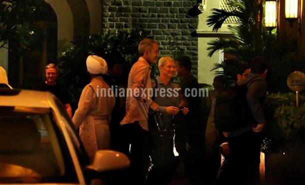 Apple, Apple CEO Tim Cook, Tim Cook India visit, Tim Cook India visit, Tim Cook in India, Tim Cook visit, Tim Cook Mumbai, Tim Cook India exclusive pictures, Tim Cook india hyderabad, India development centre, India new iphone, technology, technology news