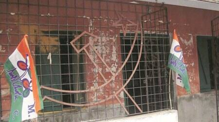 CPIM party office set afire, four injured in Tripura