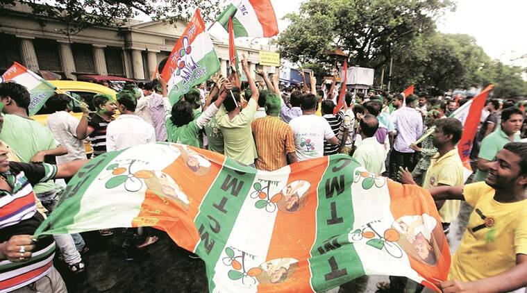 TMC supporters in Kolkata after win on Thursday. Express photo by Subham Dutta. 19.05.16