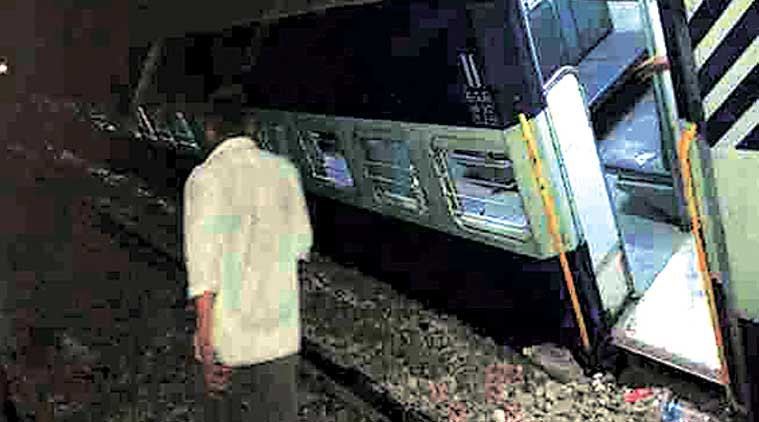 Old Delhi-Faizabad Express derailed between Garhmukteshwar and Kakakher stations. (Express Photo)