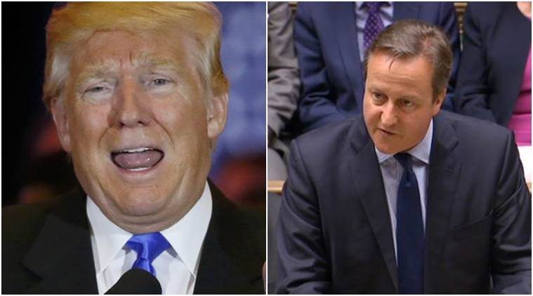 Stupid, Us elections, US presidential elections, 2016 Us elections, Donald trump, David cameron, UK, US, united states, Cameron on Trump, Trump on Cameron, David Cameron Trump, Donald Trump Cameron, world news, international news, indian express news