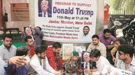 Hindu Sena holds havan for Donald Trump, the 'saviour of humanity from Islamic terror'