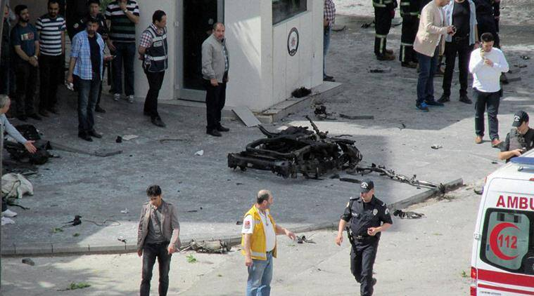 turkey, Gaziantep, turkey car bomb attack, turkey explosion, turkey gaziantep, gaziantep bomb blast, world news, indian express