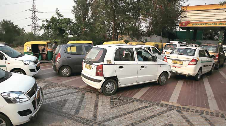 diesel taxi, ban on diesel taxis, drivers protest, Supreme Court ban on diesel taxis, switch to CNG, new delhi, delhi news, india news, latest news