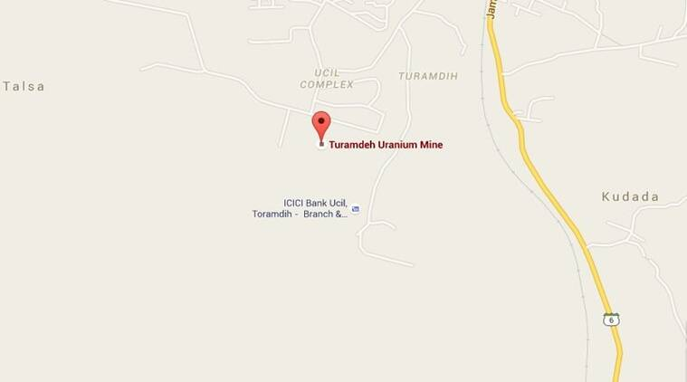 According to officials, the incident occurred at Turamdih mines of UCIL, located nearly 23 km from Jamshedpur headquarters at around noon. (Source: Google Maps)