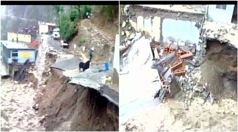 Uttarakhand, tehri, highway, Uttarakhand highway, Uttarakhand highway blocked, Cloudbursts, tehri, tehri Cloudbursts, Uttarakhand Cloudbursts, Uttarakhand Cloudburst, Char Dhaam Yatra, Char Dhaam Yatra pilgrims, pilgrims, india news