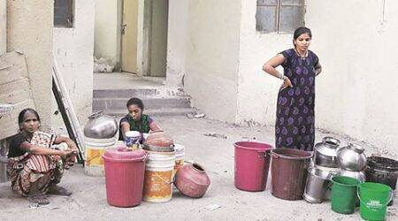 Slum dwellers in Vadodara move in their new homes — without power and water