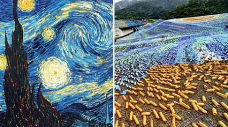 Van Gogh recycled: Four million bottles used in Taiwan replica of 'StarryNight'