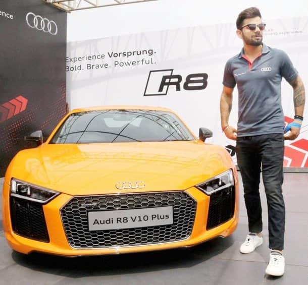 PHOTOS: Virat Kohli Launches Audi R8 V10 Plus Priced Rs 2