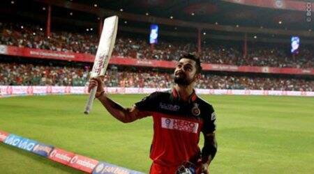 Virat Kohli, kohli, Kohli hundred, ipl 2016, Kohli records, Virat records, Kohli runs, Kohli RCB, RCB vs KXIP, KXIP RCB, sports news, sports, cricket news, Cricket