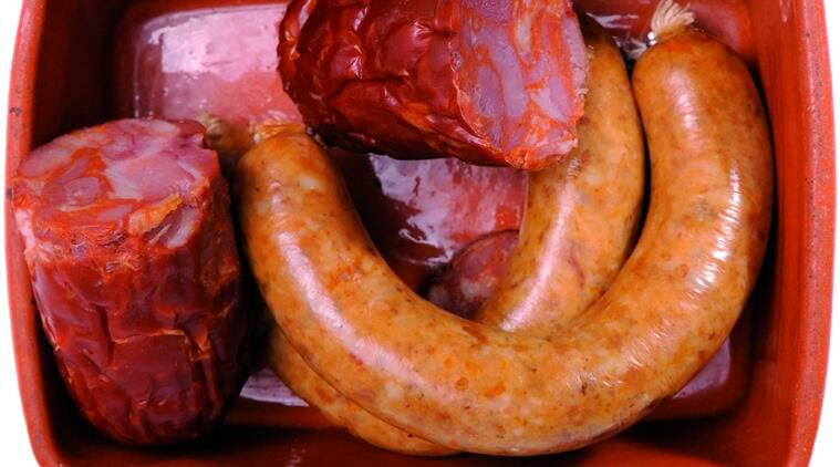 The Alheira along with other traditional sausages of Portugal.