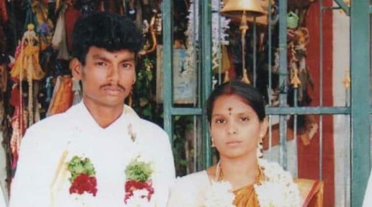 Till death do us part: Shankar and Kausalya on their wedding day.