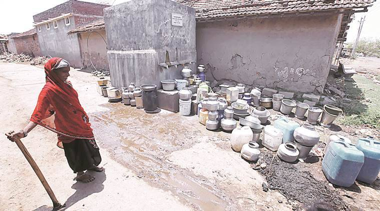 water scarcity, water problem in gujarat, gujarat water problem, drought, water problem in amreli, amreli water crisis, indian express hardlook, ahmedabad news, ahmedabad hardlook, dedan news, indian express drought