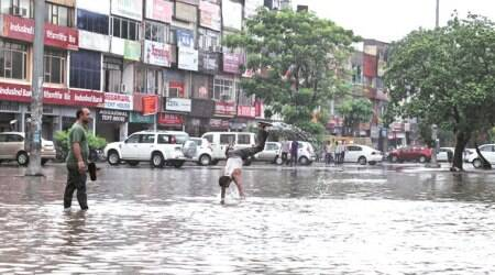 Mohali International Airport Road Flooded
