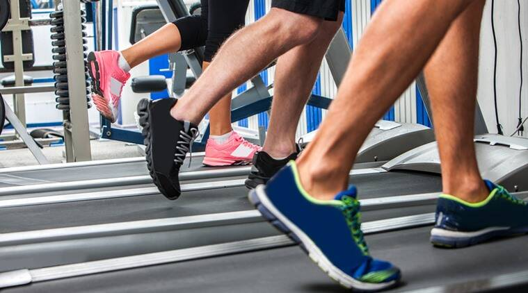 Treadmill running with heavier shoes