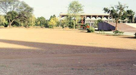 Ground levelled for International Yoga Day at Capitol Complex in Chandigarh on Friday, May 27 2016. Express photo by Sahil Walia