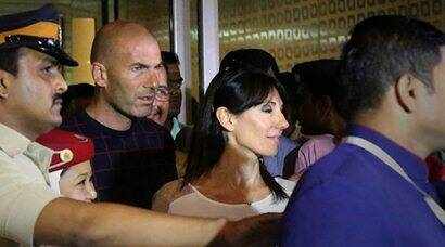 For Football  lovers: Real Madrid star Zinedine Zidane arrives at Mumbai airport - Newsx