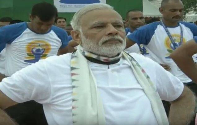 5yoga day, yoga, narendra modi, narendra modi yoga, modi yoga, modi yoga asanas, modi yoga pictures, modi yoga day speech, modi yoga day address, chandigarh yoga day, international yoga day