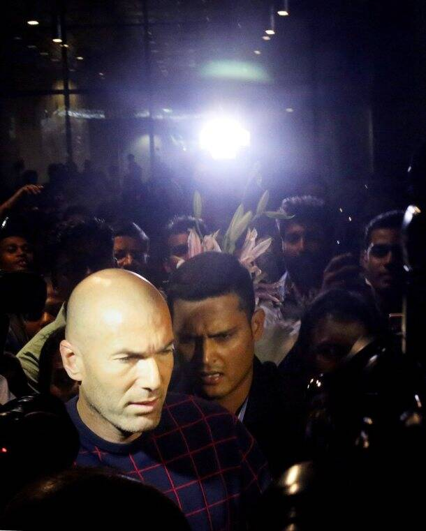 Zinedine Zidane arrives in Mumbai for promotional event
