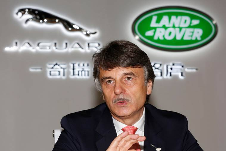 Chief Executive Officer of Jaguar Land Rover Dr Ralf Speth speaks at media round table before the Chery Jaguar Land Rover plant opening ceremony in Changshu, Jiangsu province, China October 21, 2014. REUTERS/Aly Song/File photo