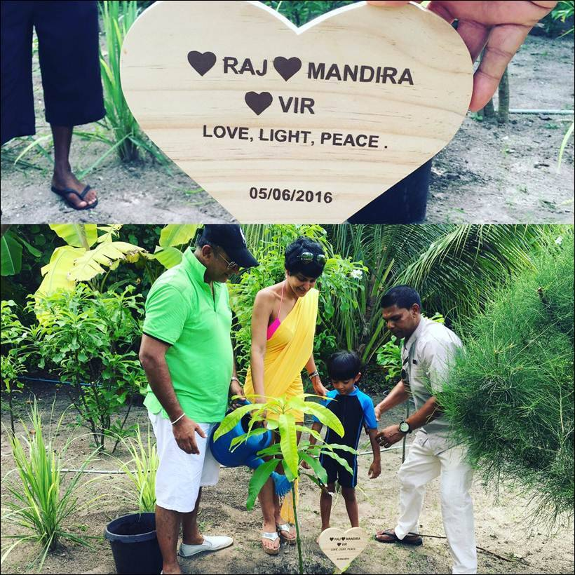 mandira bedi, mandira bedi holiday, mandira bedi maldives, mandira bedi husband, mandira bedi son, mandira bedi holiday pics