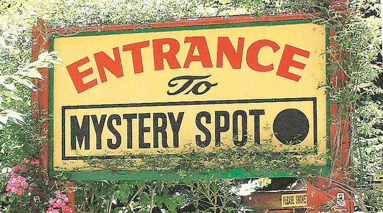 Entrance to the Mystery Spot (Source: Wikipedia)