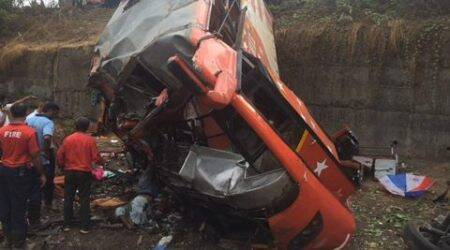 Mumbai-Pune Expressway accident: 17 dead, 43 injured as luxury bus crashes into two cars