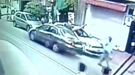 CCTV footage of Delhi road accident shows victim flung several feet up in theair