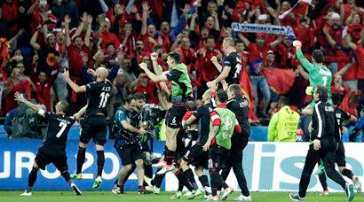 Euro 2016: Ripped shirts, burst ball and history for Albania