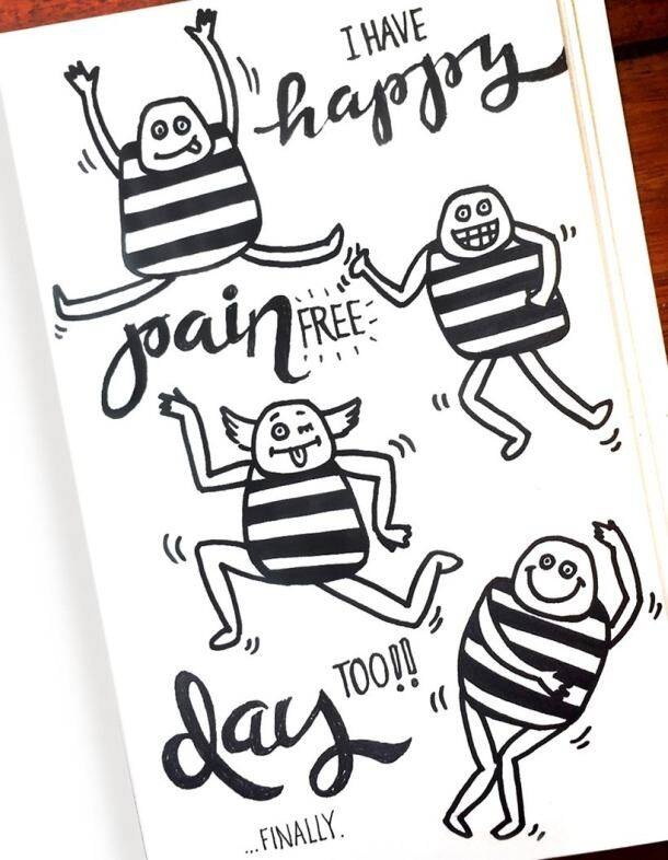 In 14 illustrations, a girl suffering from Rheumatoid Arthritis narrates her story