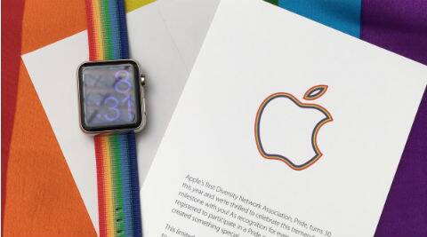 Apple, Apple watch, Apple pride watch band, Apple rainbow watch band, Apple rainbow watch strap, Tim Cook, Pride parade, LGBT parade, san francisco, gadgets, technology, technology news