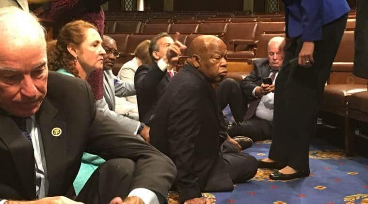 US gun controls, Democratic party, US Congress, US house of representatives, US congress sit in, US lawmakers, AIADMK, rajya sabha, world news