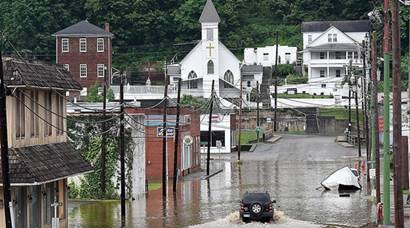 West Virginia: state's worst floods in a century
