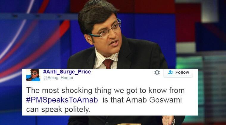 When tweeple missed 'Do not shout Arnob! I can hear you!' in Arnab Goswami's interview of PM Modi