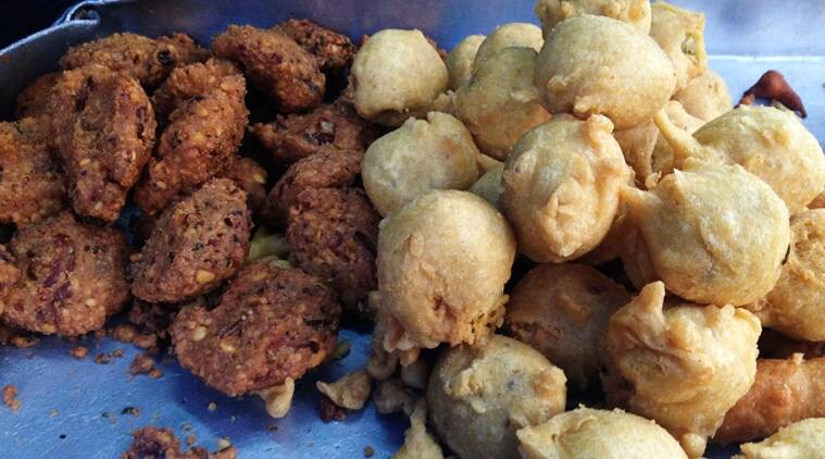 Ambades/Masala vades (left) and bondas (right) are the usually the fastest selling items at most of the bajji shops.
