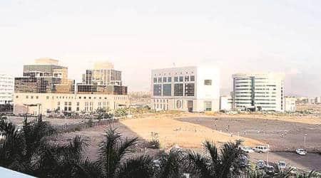 Mumbai news, Mumbai city news, Bandra Kurla complex, BKC MHADA, Indian express, construction activities at Bandra Kurla Complex