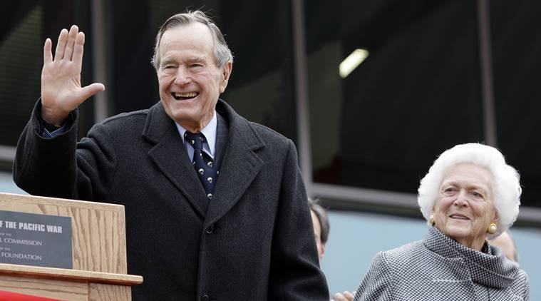 President George H.W. Bush , George HW Bush GROPING, Bush groping allegations, George  H W Bush touching, world news, indian express news
