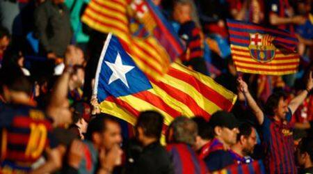 UEFA fine Barcelona for Catalan separatist flags