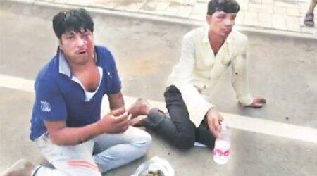 Two 'beef transporters' forced to eat cow dung by gau rakshaks