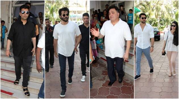 vikas mohan, vikas mohan prayer meet, vikas mohan pics, vikas mohan prayer meet pics, vikas mohan death, anil kapoor, rishi kapoor, sanjay kapoor, subhash kaushi, subhash ghia, aftab shivdasani, shakti kapoor, rohit shetty, sophie choudry, entertainment, entertainment news