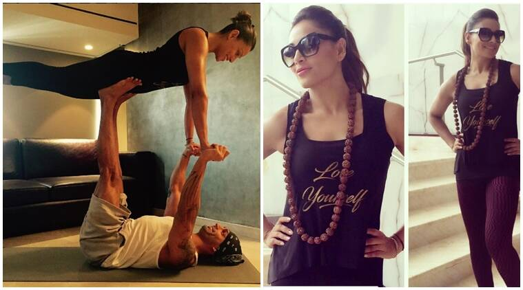 yoga day, #yogaday, International yoga day, YOGA DAY, Bipasha Basu, Karan Singh Grover, bipasha yoga day, bollowood yoga day, karan bipasha, bipasha karan pics, bipasha karan yoga day, International yoga day CELEBRATION, International yoga day NEWS, ENTERTAINMENT NEWS