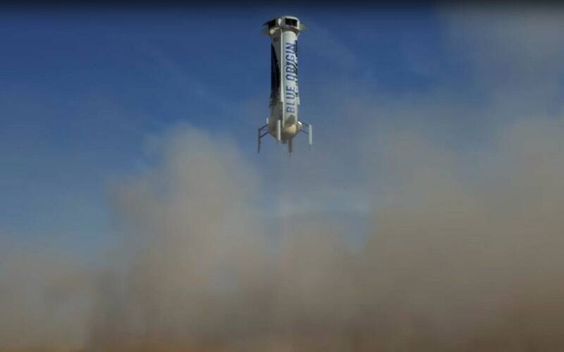 Blue Origin, Blue Origin rocket landing, New Shepard, New Shepard rocket, Jeff Bezos, Blue Origin rocket, Blue Origin space capsule, science, science and space news, technology