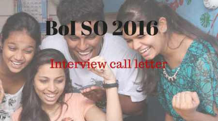 BoI SO recruitment: Interview Call Letterreleased